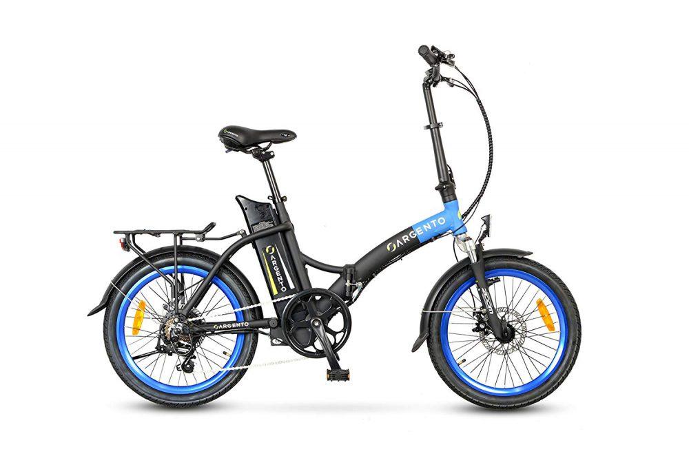Bicicletta Elettrica Pieghevole Argento Piuma