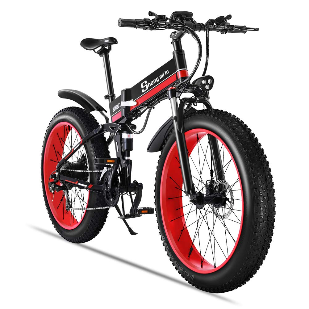 Bicicletta Elettrica Shengmilo 1000w Fat Mountain Bike